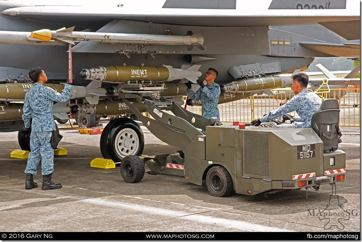 Arming demonstration on F-15SG