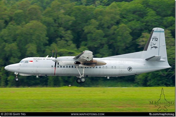 Joyride Fokker 50 Landing