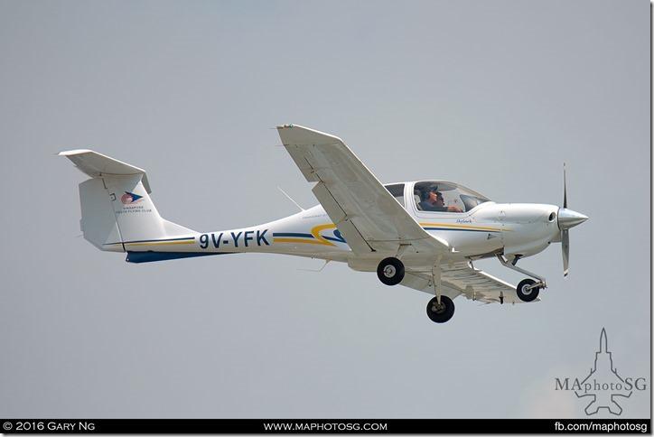 A Youth Flying Club Diamond DA40 simulating an intruder
