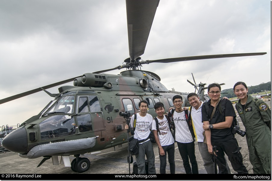MAphotoSG team with Fighter Pilot Captain Nah JinPing, RSAF Open House 2016, Blogger preview!
