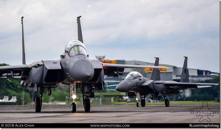 2 F-15SGs Scramble for takeoff