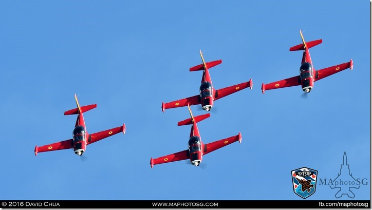 05 - Belgian Air Force Red Devils (4 x Aeromacchi SF-260)