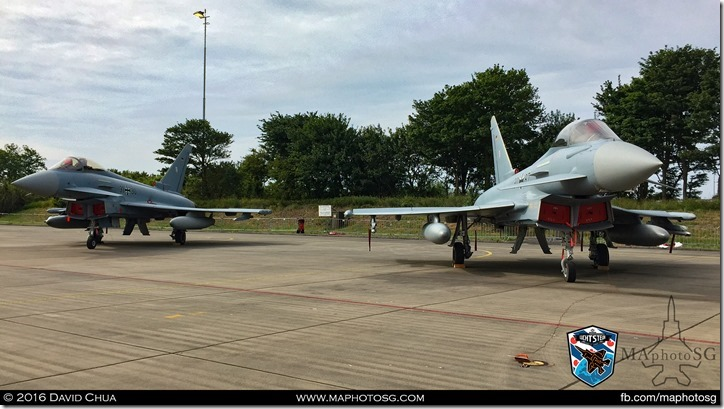 A pair of Luftwaffe EF2000 Eurofighters