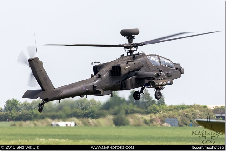 vAugustaWestland Apache AH Mk I of the 3 Regiment Army Air Corps, Wattisham Flying Station