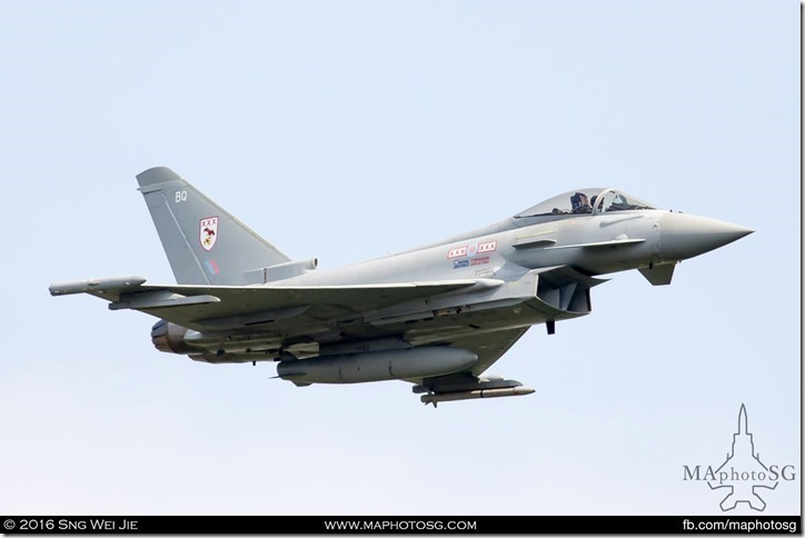 Eurofighter Typhoon FGR4 of No 29(R) Squadron, RAF Coningsby