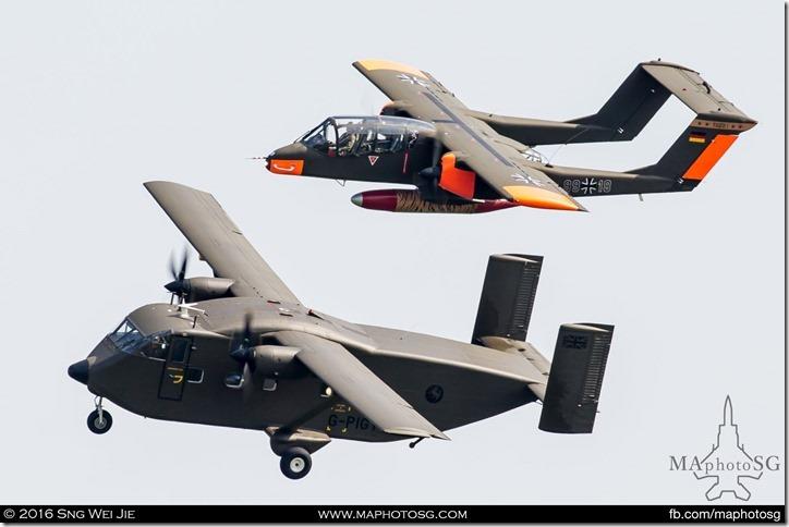 North American OV-10 Bronco and Shorts SC-7 Skyvan