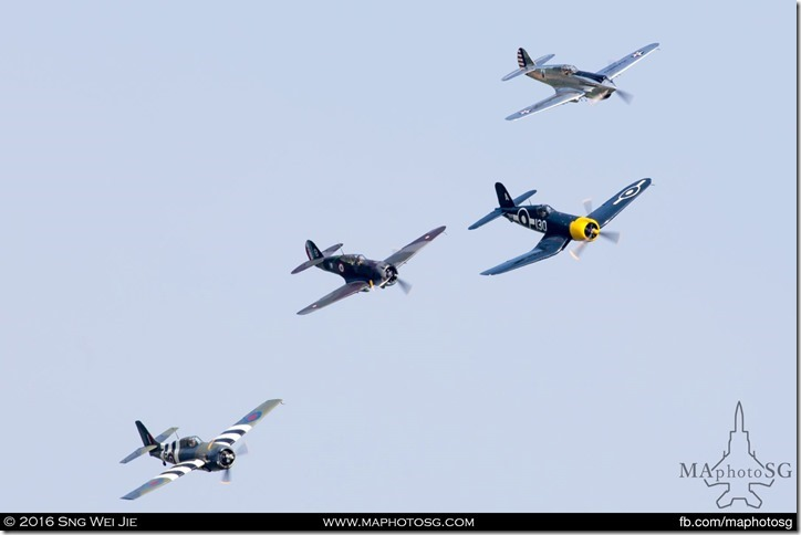 The Allied flyby
