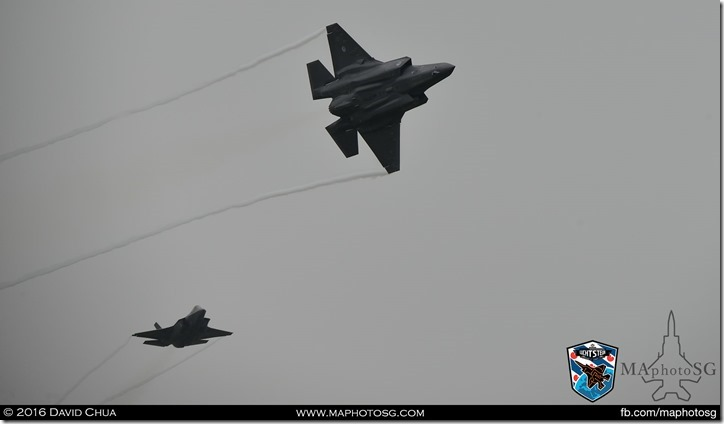 2 ship formation of both F-35A