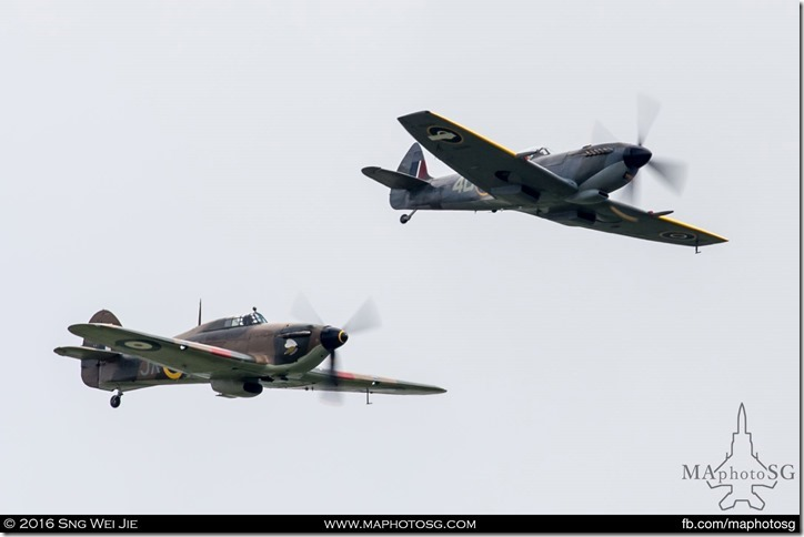 Hawker Hurricane and Supermarine Spitfire of Battle of Britain Memorial Flight, RAF Coningsby