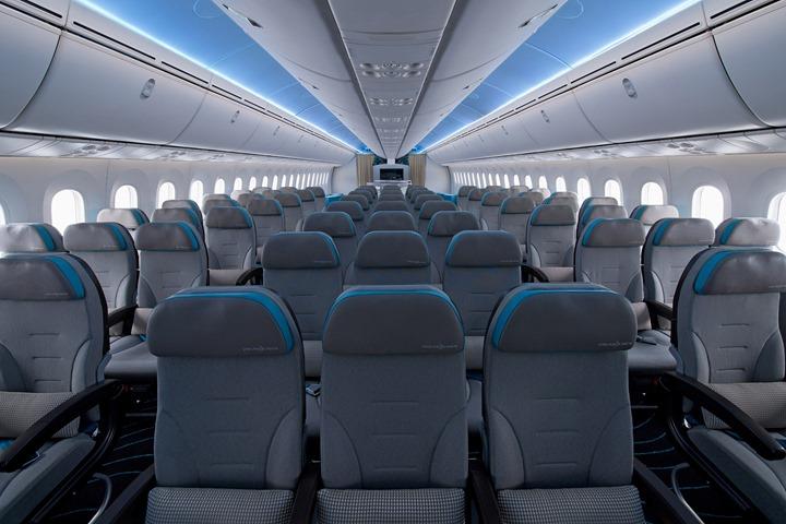 787 ZA003 World Tour Plane Interior Photography K65493-02