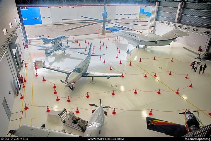 Static Aircraft display at WingsOverAsia building