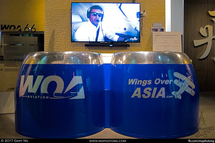 Front counter of WingsOverAsia building at Seletar Aerospace View