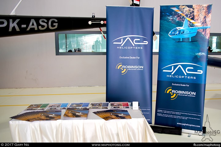 JAG Helicopters booth at WingsOverAsia