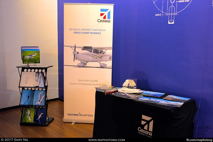 Cessna booth at WingsOverAsia