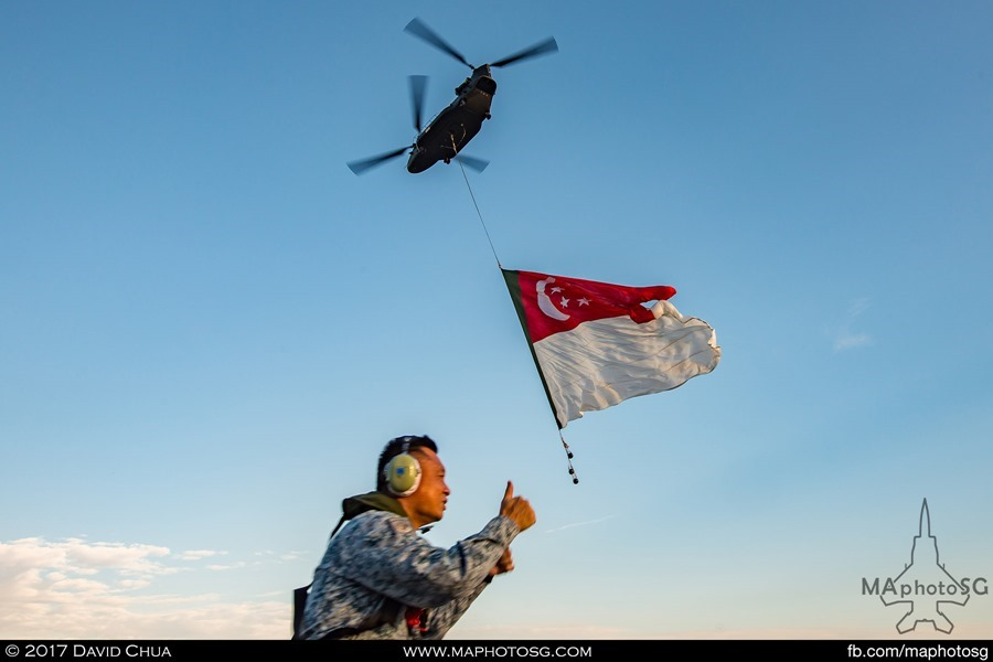 NDP 2017 RSAF State flag flypast: Ground Crew Mission Accomplished – Flag party is on its way to show centre