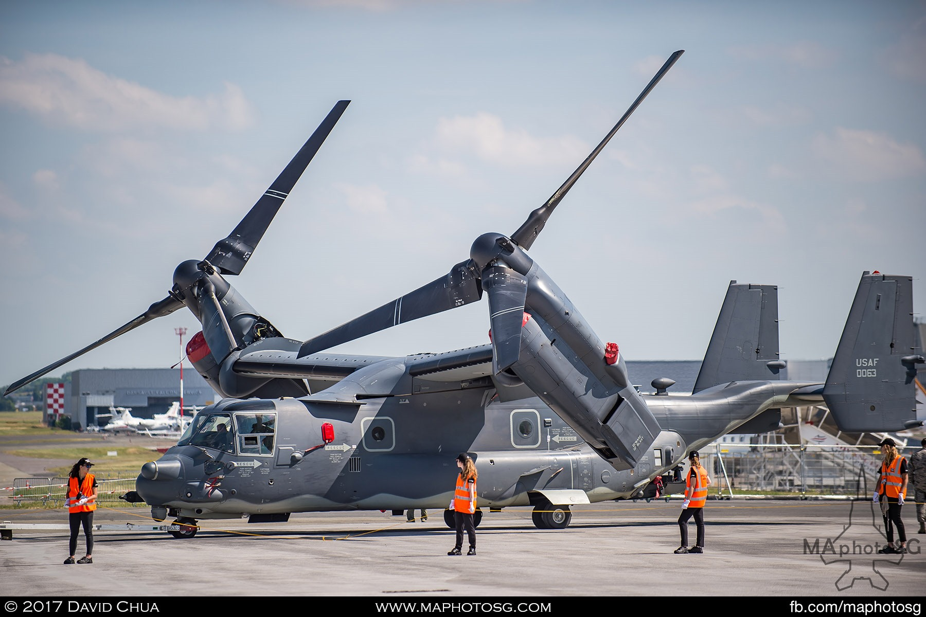 15. USAF Bell CV-22B Osprey at Static Display Area.