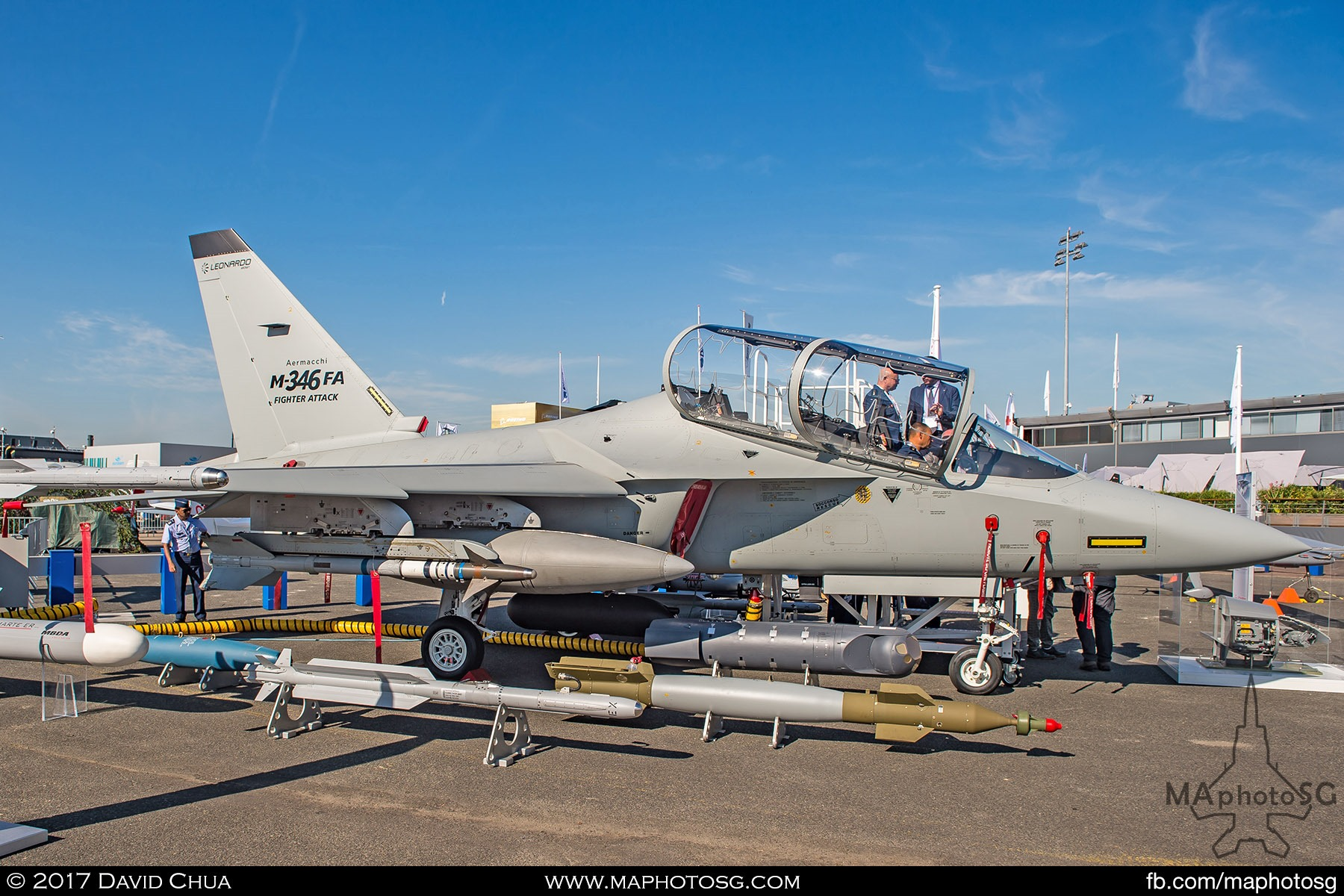13. Leonardo has shown for the first time the M-346FA (Fighter Attack). Its latest evolution of the M-346 platform. This new version of the M-346 will take its place next to the two existing variants of the aircraft: the Advanced Jet Trainer and the multi-role M-346FT (Fighter Trainer). The M-346 Fighter Attack will be equipped with a dedicated variant of the Grifo multi-mode fire control radar, designed and manufactured by Leonardo.