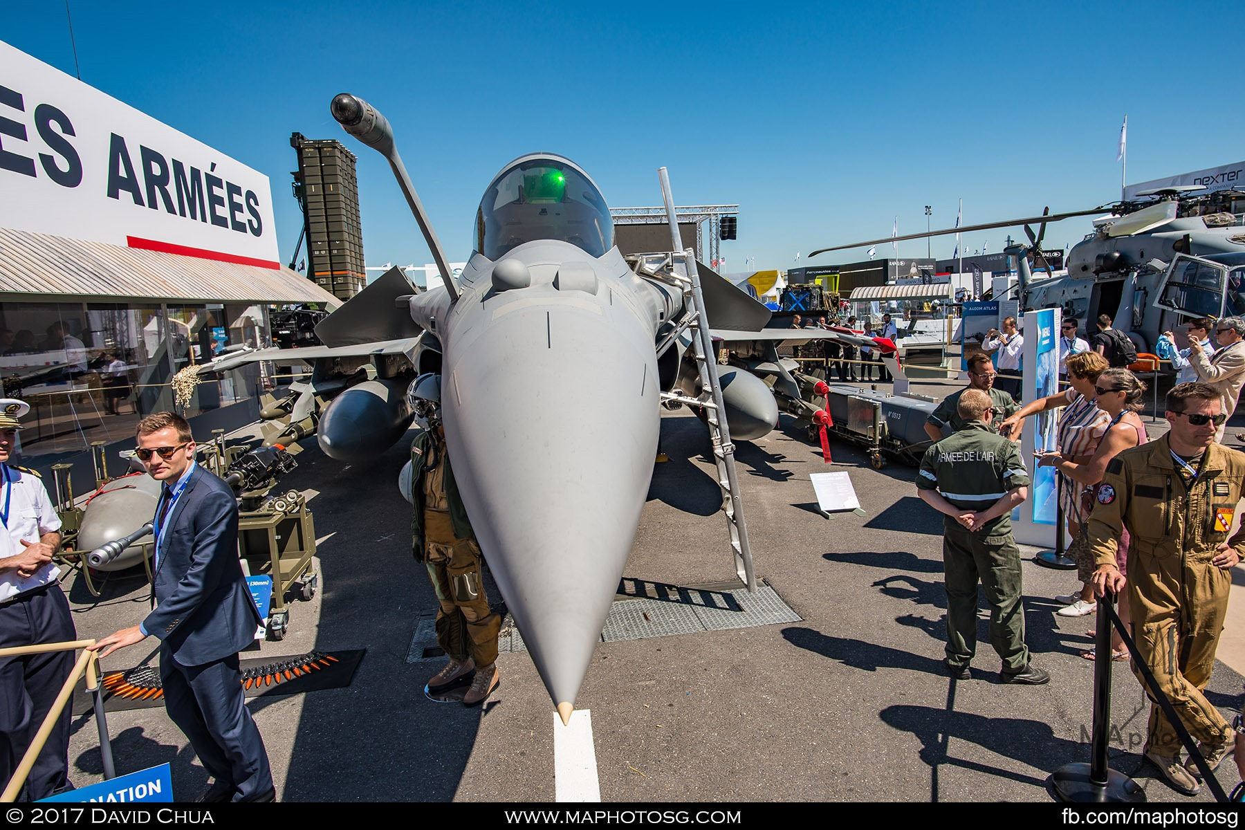 19. French Air Force Rafale C with stores display at the Ministry of Defence static area. Pilots and ground crew were on hand to give visitors an insight into their job and the Rafale.