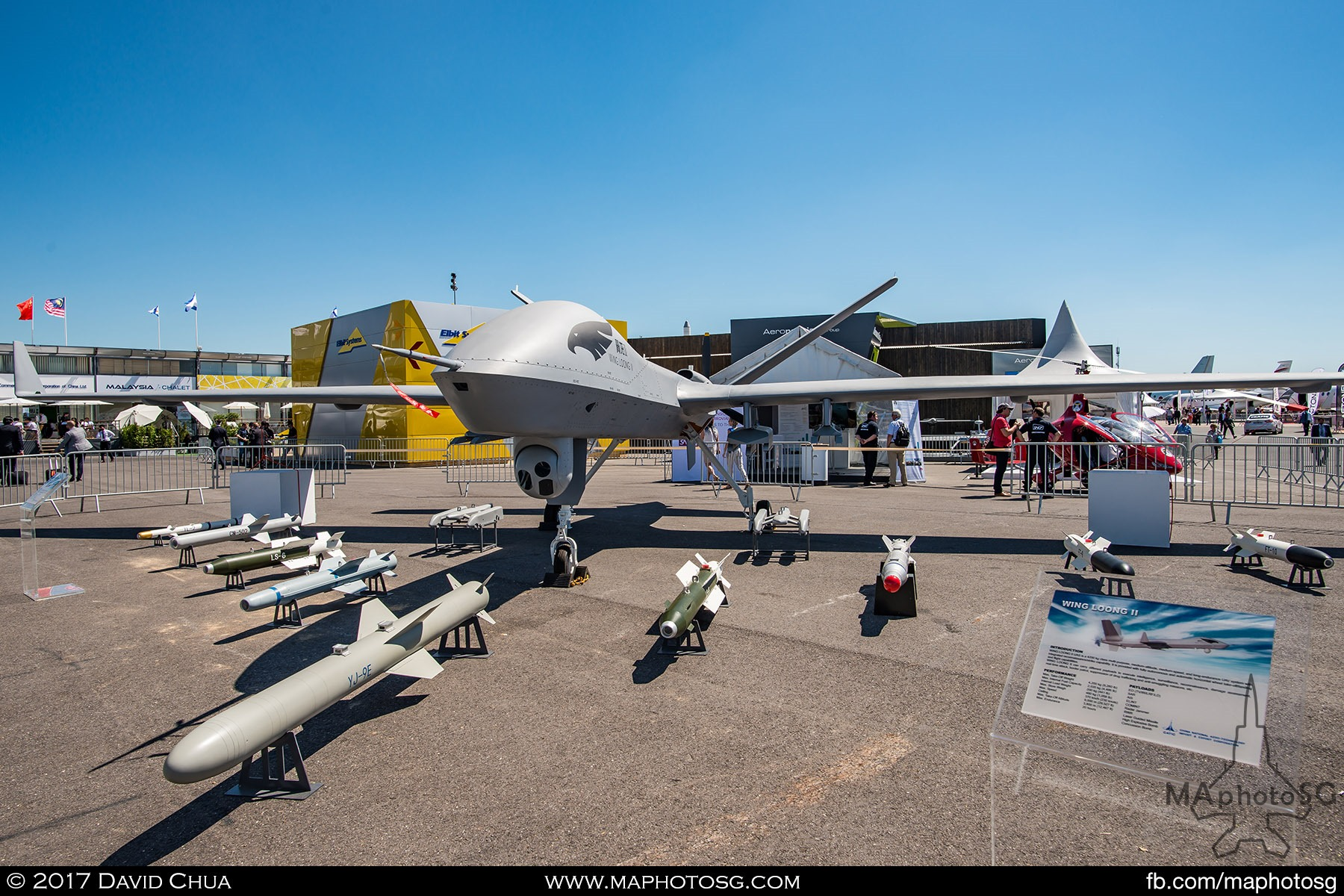 30. Making its first appearance outside of China is a full scale mock up of the Chengdu Wing Loong II UAV, displayed with an array of missiles and bombs. Externally, it looks like the MQ-9 Reaper drone that the United States uses.