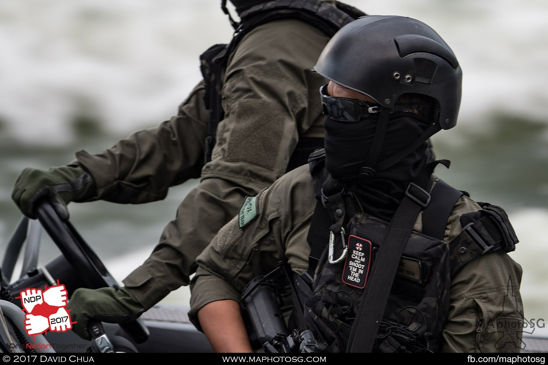 14. Navy Special Forces trooper on the Combatant Craft Medium