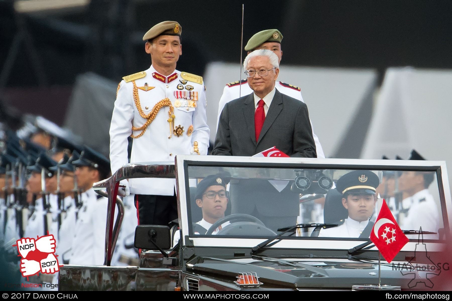 27. President Tony Tan Keng Yam and Chief of Defence Force LG Perry Lim.