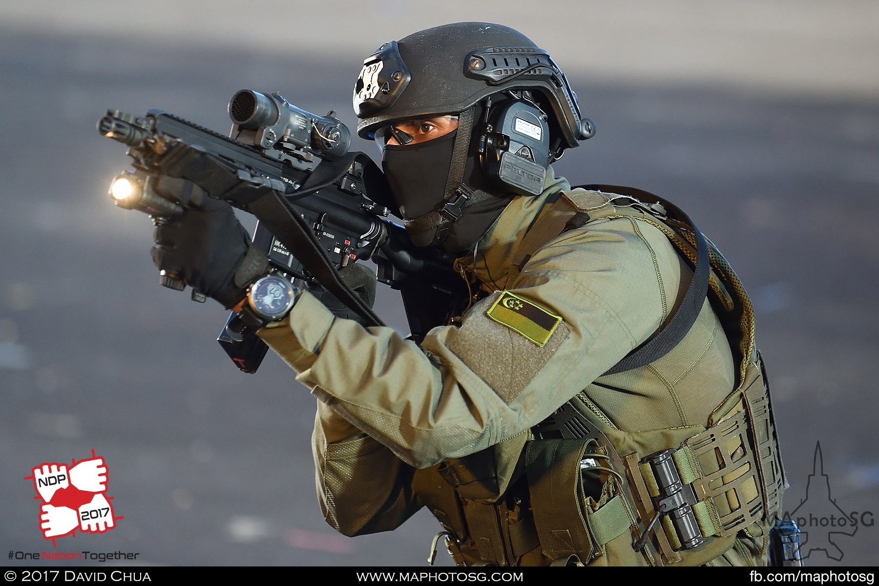 34. Special Forces trooper in action during the second Dynamic Display Segment.