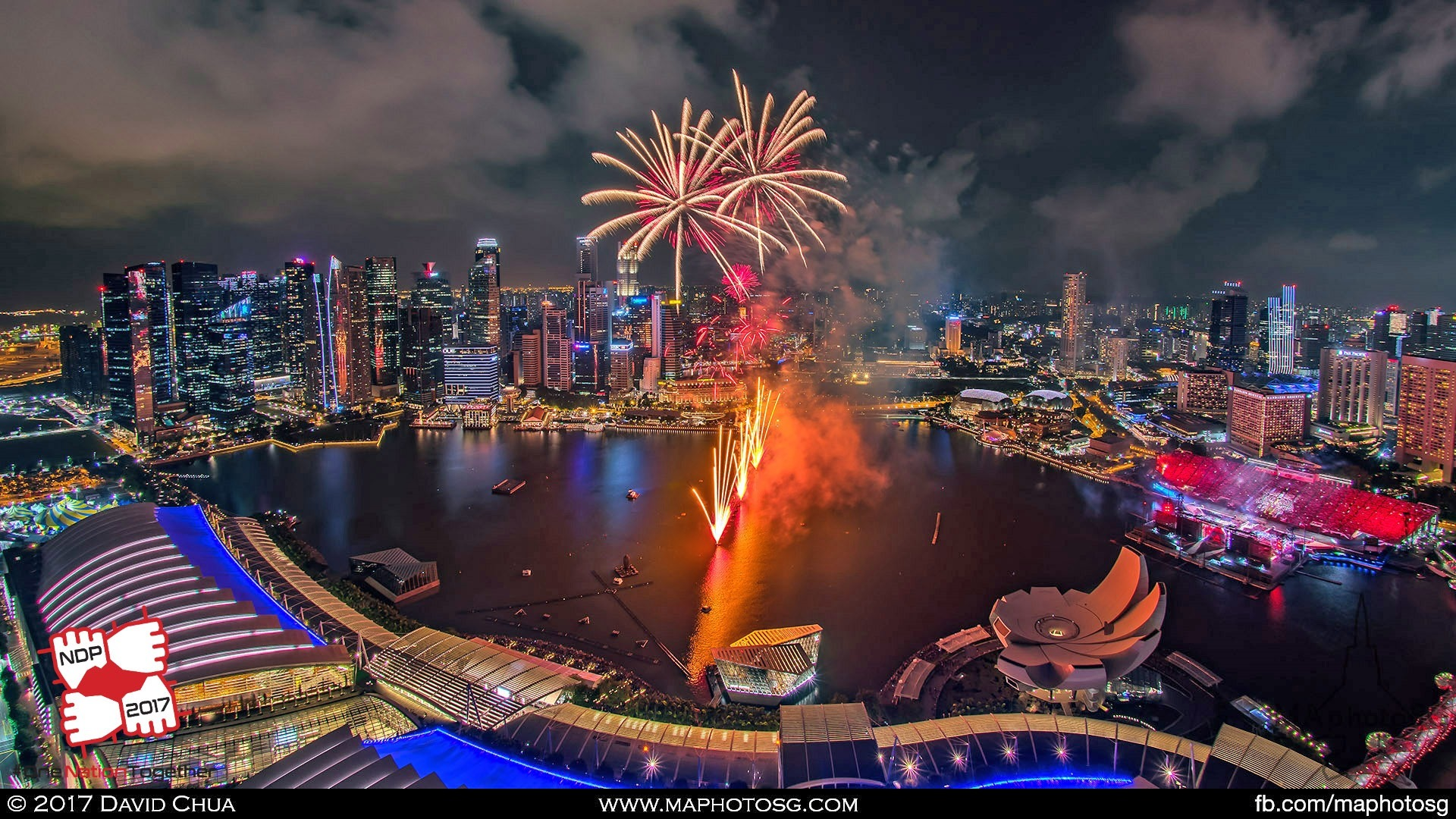 38. Fireworks as viewed from the Marina Bay Sands.