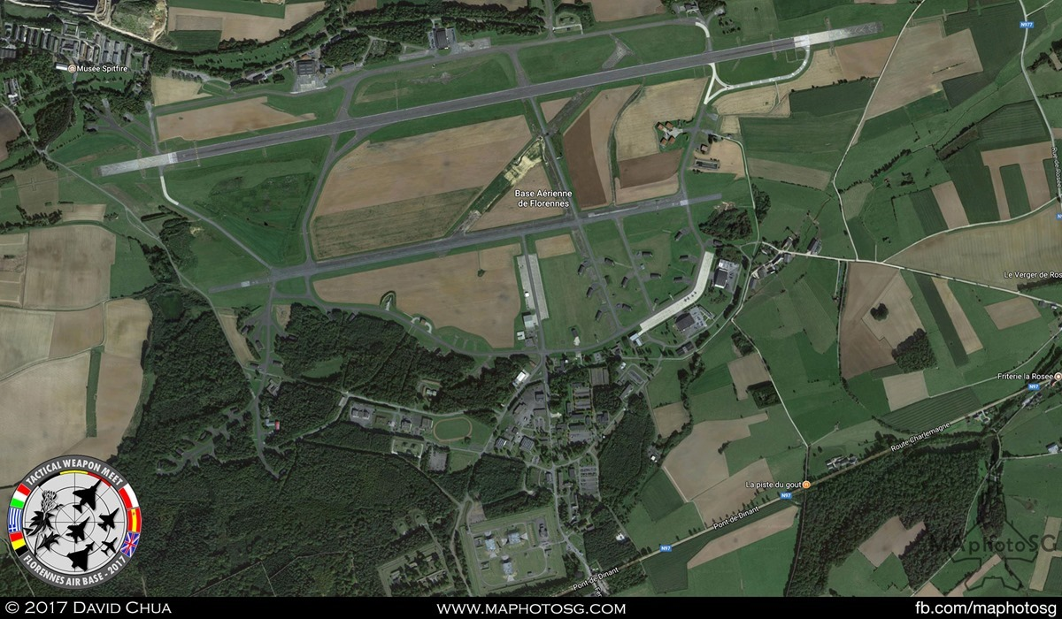 1. Florennes Air Base in Belgium. Picture from Google Map.