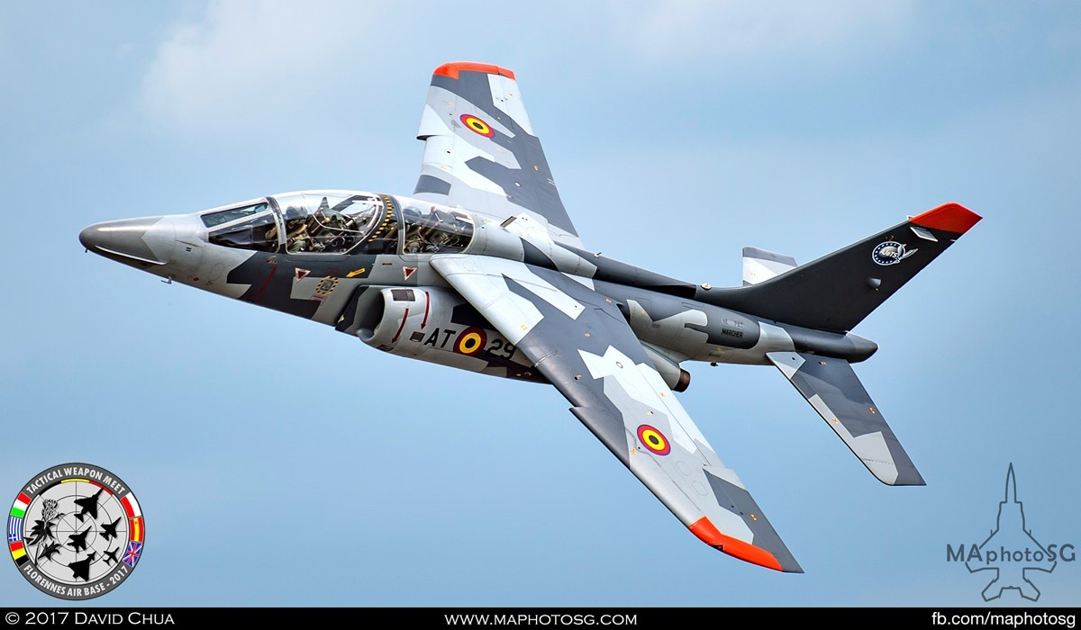 17. Special Appearance 3 – Belgian Air Force Alpha Jet in Splinter Camouflage.
