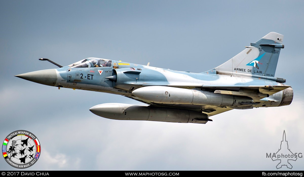 "21. Special Appearance 4 – 2nd of the pair of French Air Force Mirage 2000-5F from EC 1/2 ""Storks"". This is aircraft 2-ET"