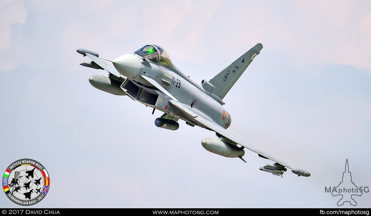 32. Spanish Air Force Eurofighter Typhoon (11-28) from Ala 11.