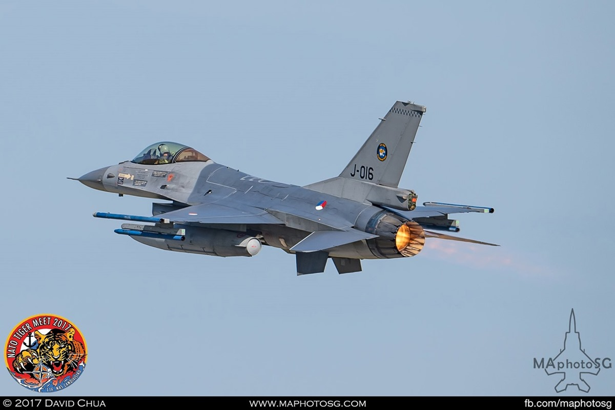Royal Netherlands Air Force 313 Squadron F-16A MLU Fighting Falcon (J-016)