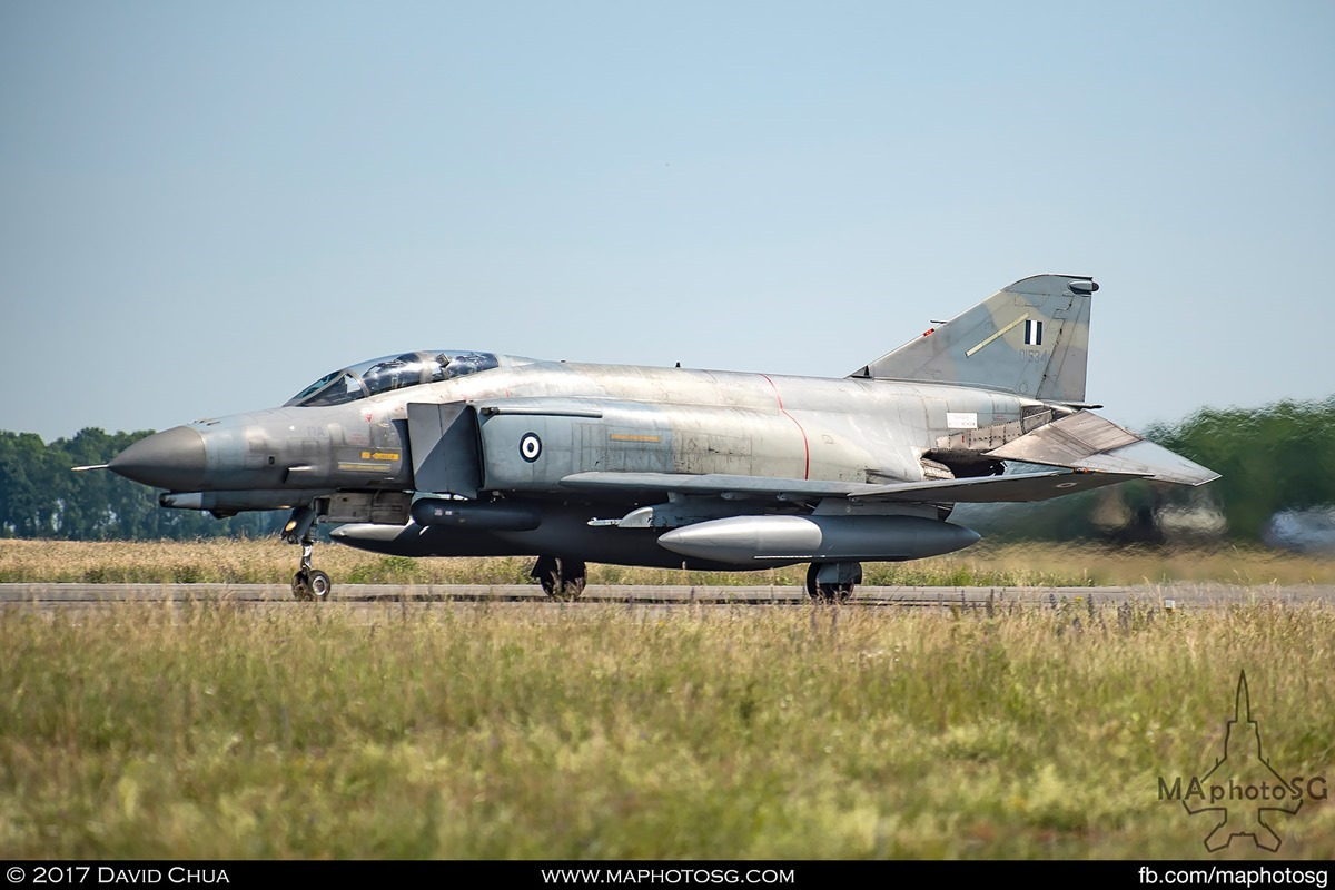F-4E Phantom II (01534) on rolling for takeoff on runway