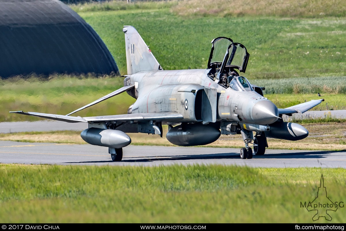F-4E Phantom II (01534) Taxiing out to the runway
