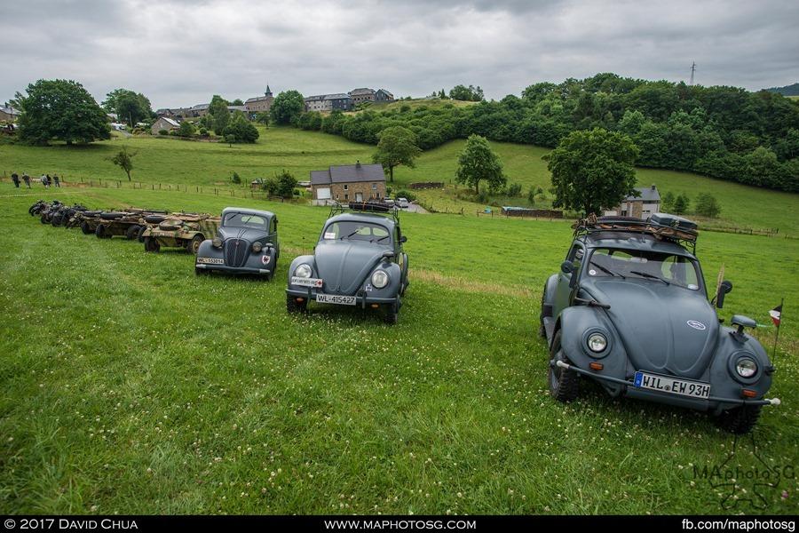 Family of Volkswagens. Beetles, Schwimmwagen and Kubelwagens