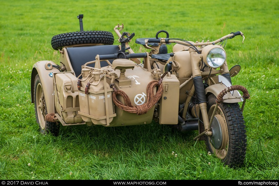BMW R75 motorcycle with Sidecar