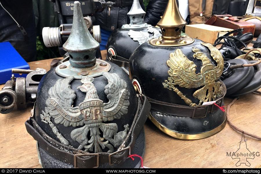World War I era helmets