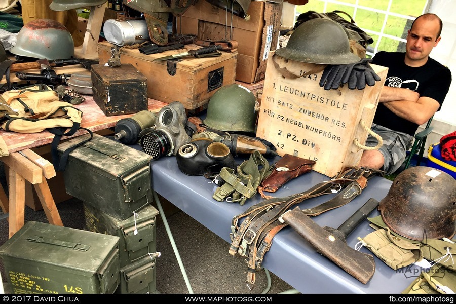 A trader dealing in personal artefacts and ammunition boxes