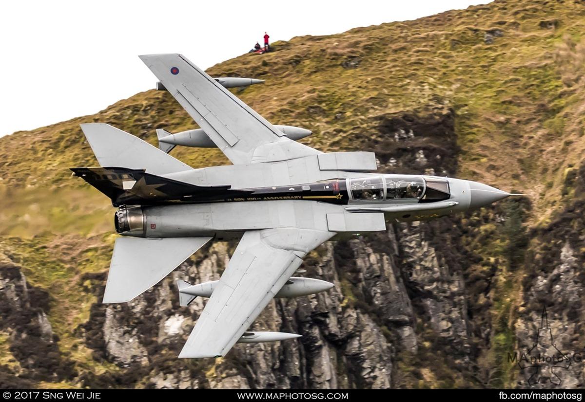 """RAF Tornado GR4 ZA548/ 040 """"31 Squadron 100th Anniversary"""" in the Loop"""