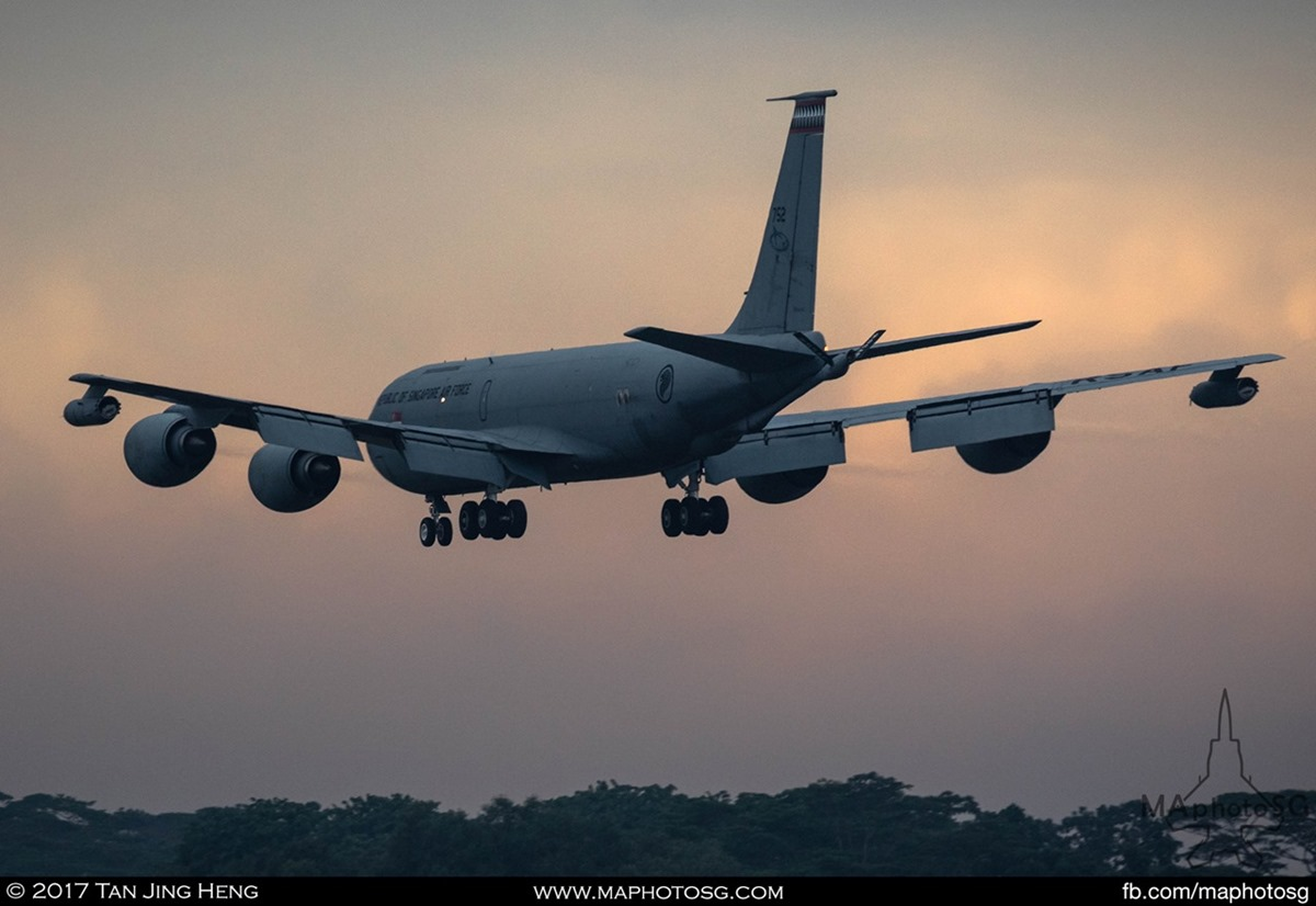 As the sun sets on 19 September 2017, a RSAF KC135 returned home with the body of 3SG Gavin Chan, who died during training in Exercise Wallaby in Australia.