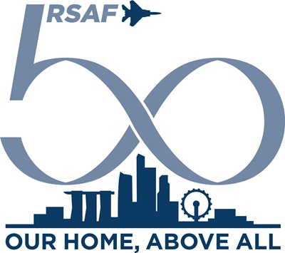 RSAF 50th Logo Blue