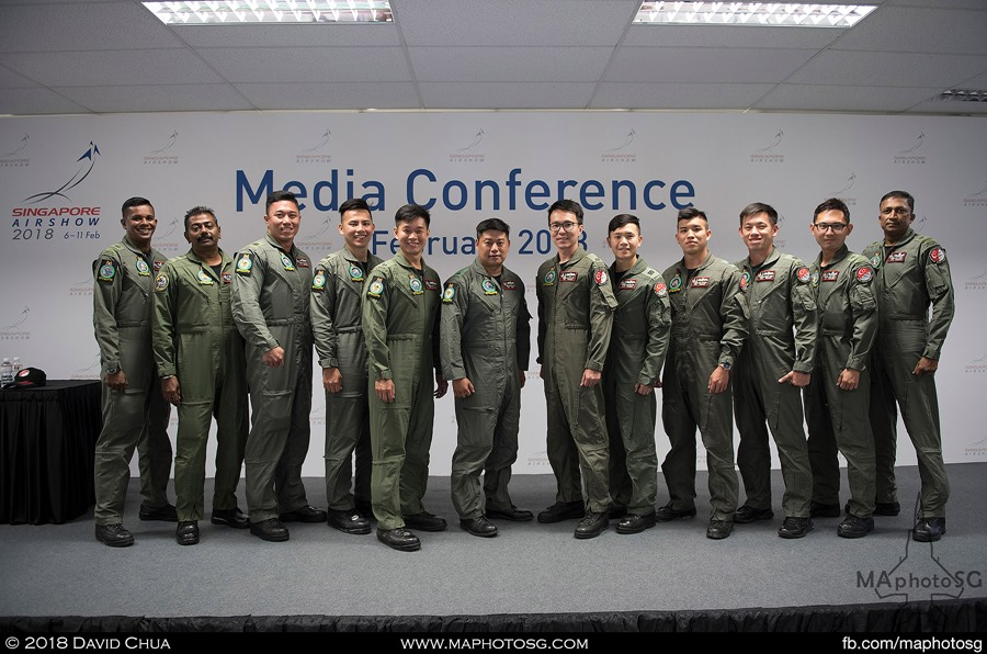 RSAF Display Team pilots and commentators