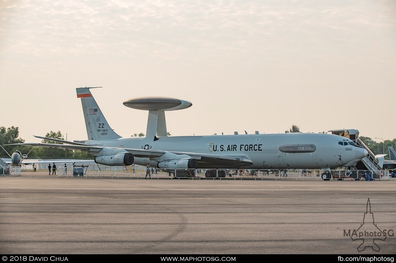 USAF E-3B Sentry from Kadena Air Base, Okinawa, Japan