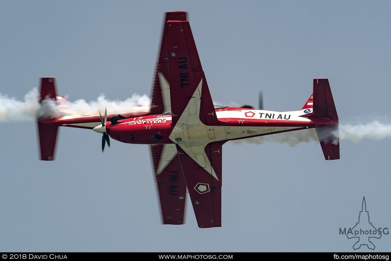 Indonesian Air Force (TNI-AU) Jupiters Team Solo cross over