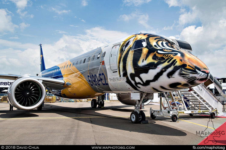 "Embraer E190-E2 ""Profit Hunter"" Tiger Livery (PR-ZFU)"