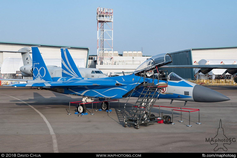 SAF 149 Sqn Boeing F-15SG Strike Eagle in RSAF50 Livery (8335)