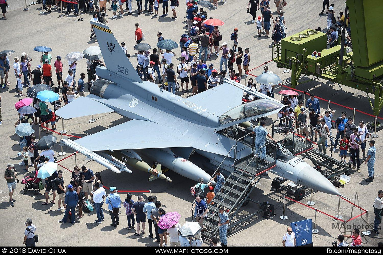 RSAF 143 Sqn Lockheed Martin F-16D Fighting Falcon (626)
