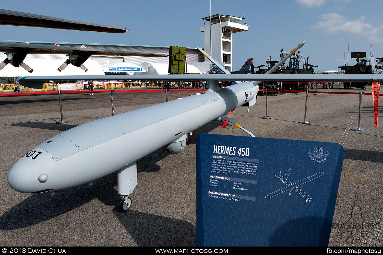 RSAF 116 Sqn Elbit Hermes 450 (501)