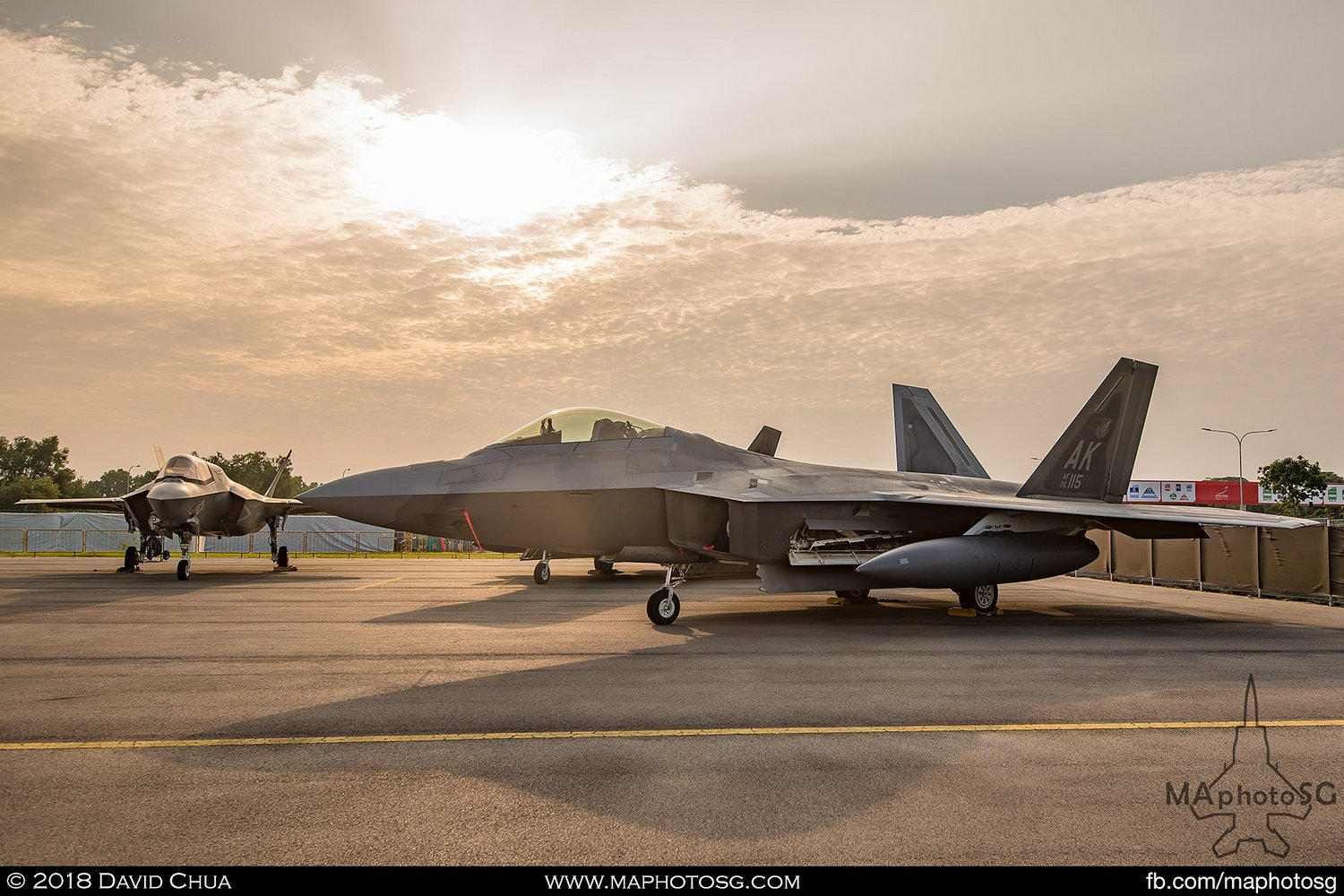 USAF 525th FS Lockheed Martin F-22A Raptor (06-115)