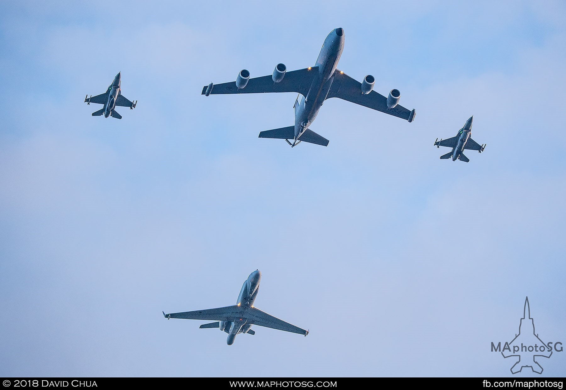 1902 – Formation of KC-135R Stratotanker, Gulfstream G550 CAEWS and 2 F-16 Fighting Falcons